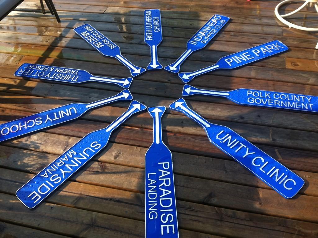 canoe-paddle-signs-balsam-lake-village