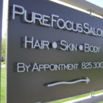 Custom Business Signs Pure Focus Salon - Madman Designs